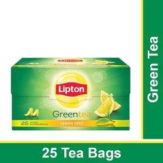 Lipton Lemon Zest Green Tea Bags, 32.5 g (25 Bags x 1.3 g each)
