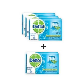 Dettol Bathing Bar Soap (Cool) 75g each - Pack of 4