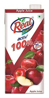 Real Active 100% No Sugar Added Juice Apple - 1l