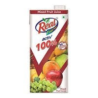 Real Active 100% No Sugar Added Mixed Fruit Juice - 1l