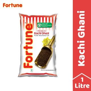Fortune Kachi Ghani Mustard Oil Pouch - 1l